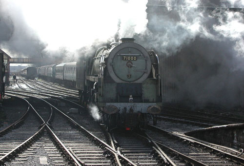 Initial steam test at Bury - Photograph by Adrian Meakin